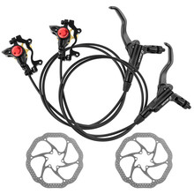 ZOOM HB-875 Mtb Bike Hydraulic Brake Set 750/1350 mm Bicycle Disc Brake With Rotors 160 mm taiwan cstar mtb bike disc brake 850 1350 mm bicycle hydraulic brake set with rotors 160 mm bike parts