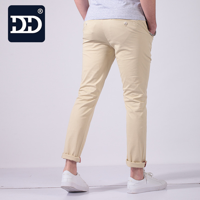 Slim Skinny Pants High Stretch Pencil for Men Cotton
