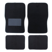 Hot Front Back Car Floor Mats For Kia 2016 4pcs Set Universal Black Front Rear Car