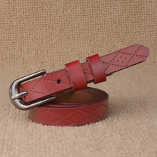 Leather Belt with Sprocket Holes