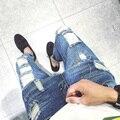 T pies agujero jeans nuevos hombres edición de han cultiva su moralidad pantalones nueve puntos pantalones ocasionales de los hombres