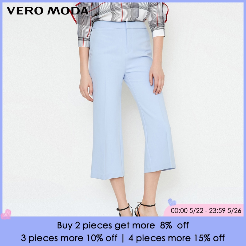 Vero Moda 2019 Spring Summer New Waist Zip   Capri     Pants   |31826J527