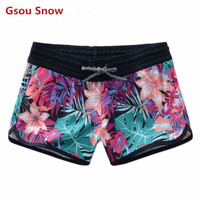 Gsou Snow Brand Swimwear Women 2017 Colorful Summer Board Shorts Swim Trunks Beach Boardshorts Surf Swimsuit Swimming Panty