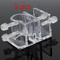 5pcs Fish Tank Tube Fixing Fixed Clip Clamps Acrylic Filter Mount Hose Aquarium Water Pipe Holder Hanger 20mm