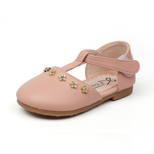 2019 Spring Summer PU Leather Girls Shoes Toddler Baby Girl Flats Flowers Princess Kids Shoes Children Girls Soft Shoes Loafers kine panda children shoes girls flats hello kitty baby shoes pu leather little kids shoes for girl soft toddler girls shoes