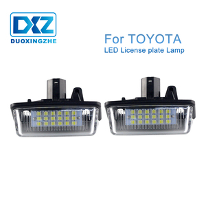 2X LED Number License Plate Lights Lamp Bulb Canbus For Toyota Corolla E11 crown Noah Voxy ZRR7 Starlet EP91 Previous GSR ACR50(China)