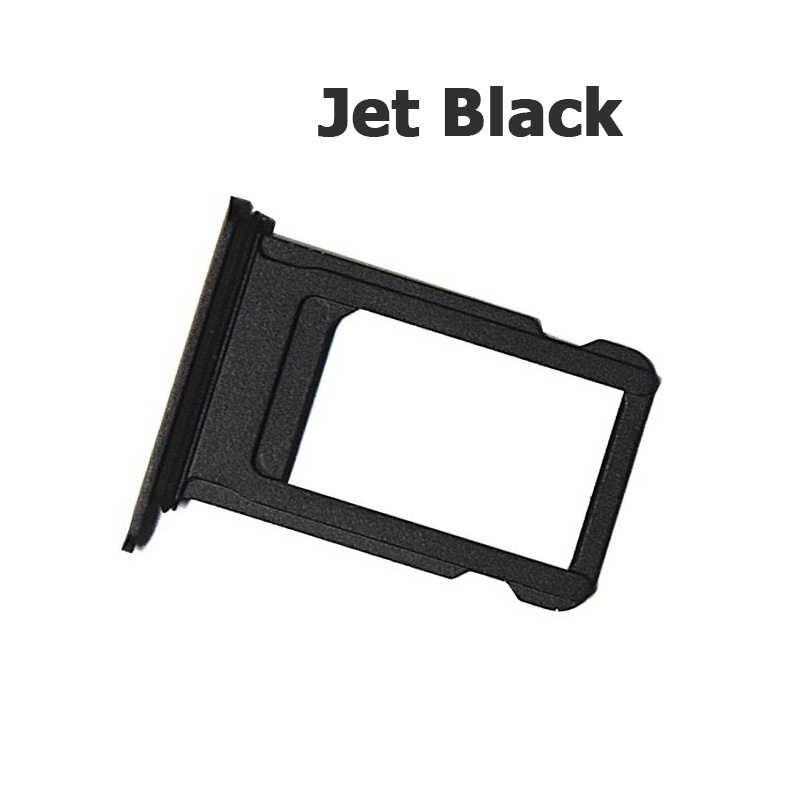 NYFundas carte SIM porte-plateau Nano fente adaptateur de remplacement pour iPhone 7 Plus 7plus pièces de réparation Jet noir or Rose argent 2016