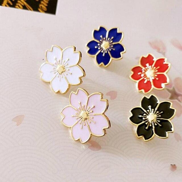 Qiaoyue Il nuovo 2017 dolce cherry blossom spilla Drip fiore collare pin badge Abbigliamento accessori borse accessori Femminili