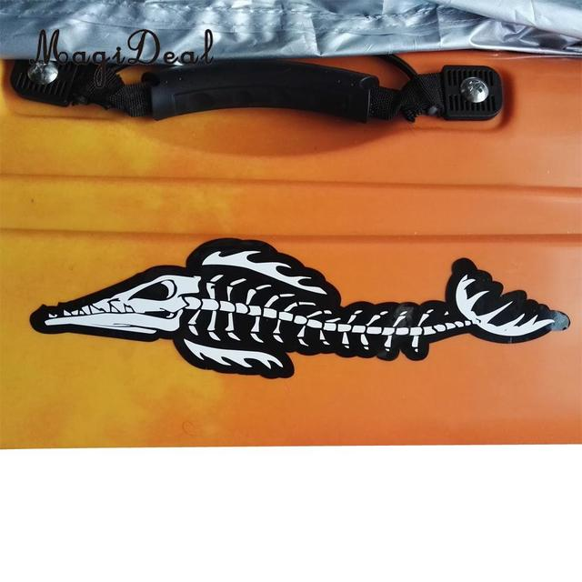 Magideal durable 2pcs water sport accessory skeleton alligator decals stickers diy for kayak canoe dinghy fishing