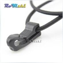 50 шт./упак. черный открытый внешний обвязки Пластик Канатный крюк веревка пряжка