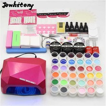 nail art full set 36w NAIL lamp dryer & 36 colors UV gel nail polish base gel top coat UV gel builder nail tools kit manicure