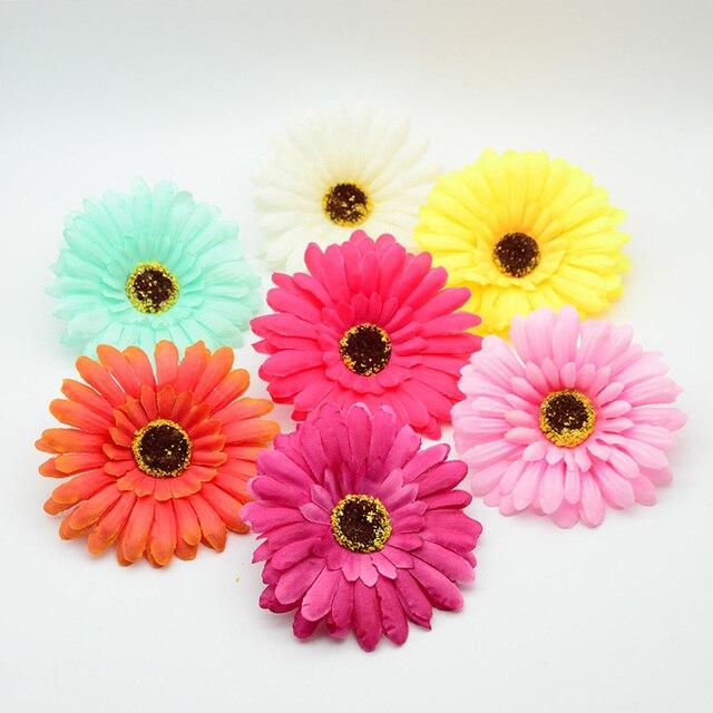 10 cm di Seta gerbera fiore di plastica per di natale accessori per la casa arre