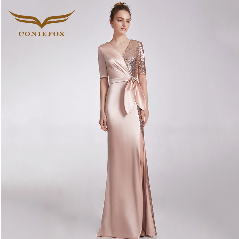 CONIEFOX 32838 Sequins Fashion sexy mermaid Ladies Retro elegance Appliques  prom dresses party evening dress gown long new -in Evening Dresses from  Weddings ... 7e9397fbbb03