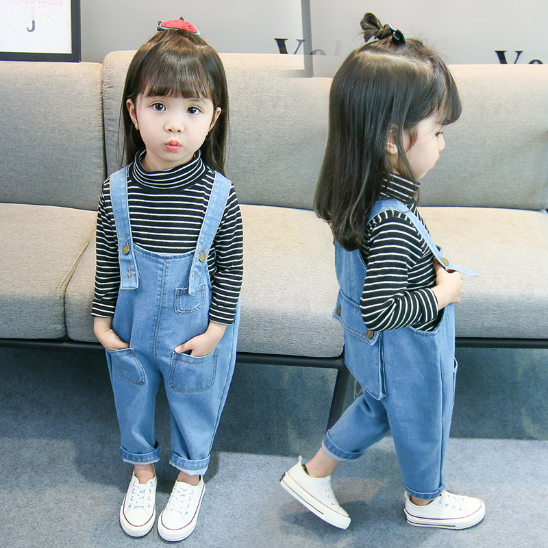0cf7cfac24e Kids Toddler Baby Little Girl Boy Baby Denim Jumpsuit Jeans For Girls Boys  Pocket Pants Overalls 1 2 3 4 5 Years Old Clothes 34-in Overalls from  Mother ...