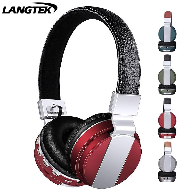 LANTECH Wireless+Wireless Bluetooth Sports Headphones Foldable HD Microphone Powerful Stereo Bass