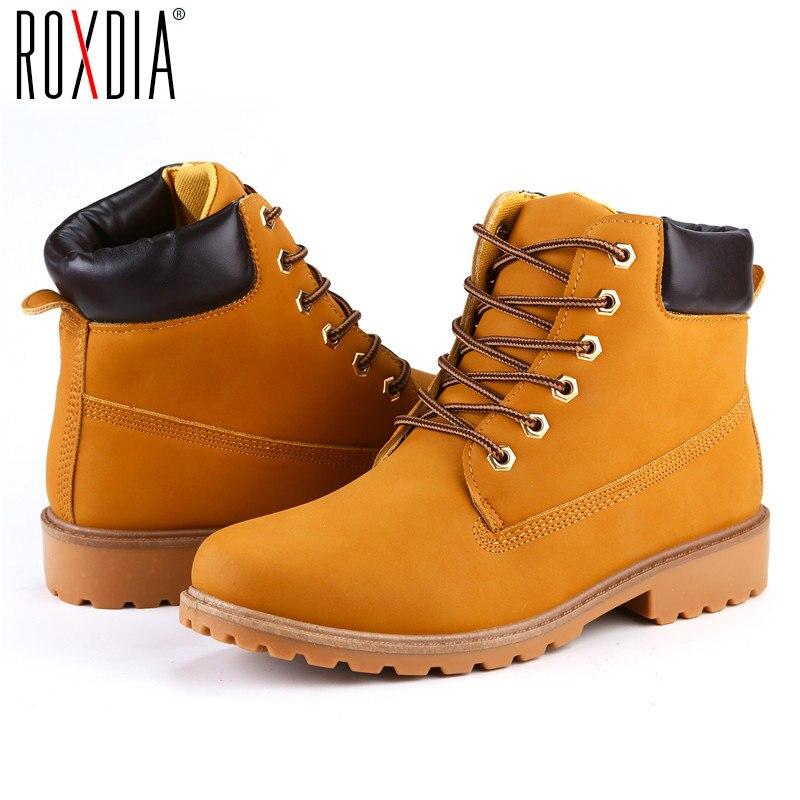 Roxdia из искусственной замши Мужские ботинки Демисезонный и зимняя мужская обувь полусапожки Для мужчин Зимние обуви работа плюс Размеры 39–46 rxm560