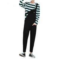 Mens Black White Bib Overalls Fashion Slim Ripped Denim Overalls Jeans Man Casual Jumpsuits Jeans Man