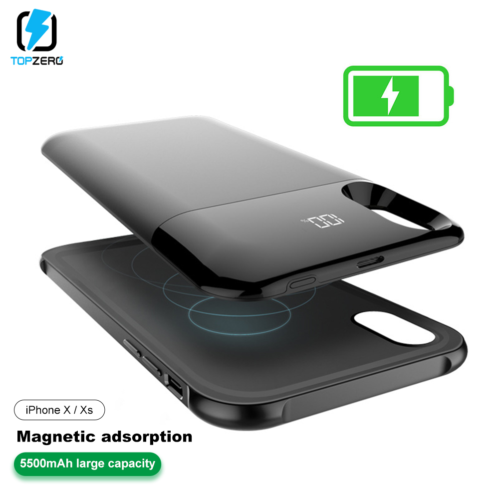Battery Case For iPhone X XS Magnetic Charging Powerbank Case For iPhone XR Power Bank Battery Charger Case For iPhone XS MAX   Battery Case For iPhone X XS Magnetic Charging Powerbank Case For iPhone XR Power Bank Battery Charger Case For iPhone XS MAX