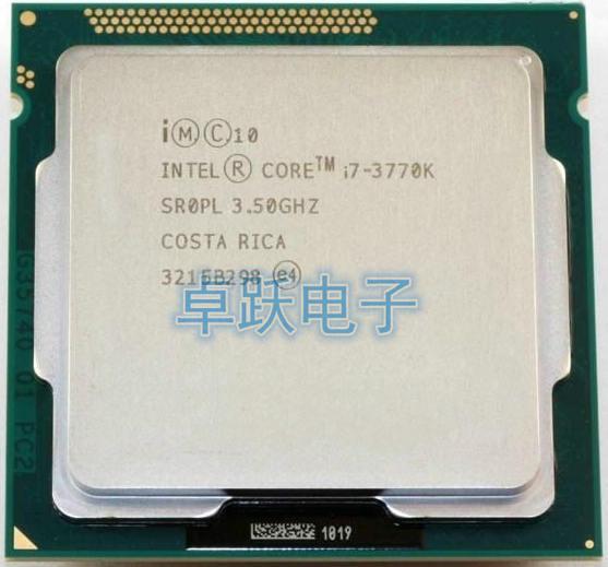 المعالج الأصلي إنتل i7 3770K رباعية النواة LGA 1155 3.5GHz 8MB مخبأ مع HD الرسم 4000 TDP 77 واط سطح المكتب وحدة المعالجة المركزية i7 3770K