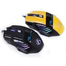 Nouvelle Souris de Jeu Filaire Professionnel 5500 DPI 3D Roue USB Ordinateur Câble souris 7 Bouton LED Optique Gamer Souris X7 pour LOL CSGO