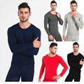 5 Diferentes Colores de Los Hombres de Invierno Cálido Cómodo Ligero Pijama Long Johns Conjunto de Ropa Interior Térmica Superior e Inferior