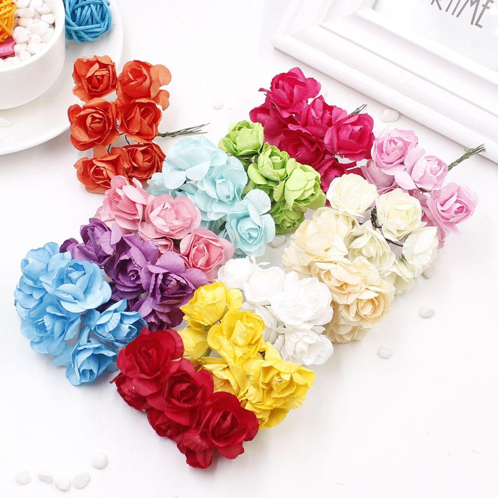 Aliexpress Buy 12pcs 2cm Mini Paper Rose Handmade Artificial