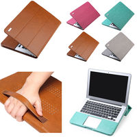 PU Leather Bag Laptop Case Cover Flip Stand For 11 12 13 15 MacBook Air Pro
