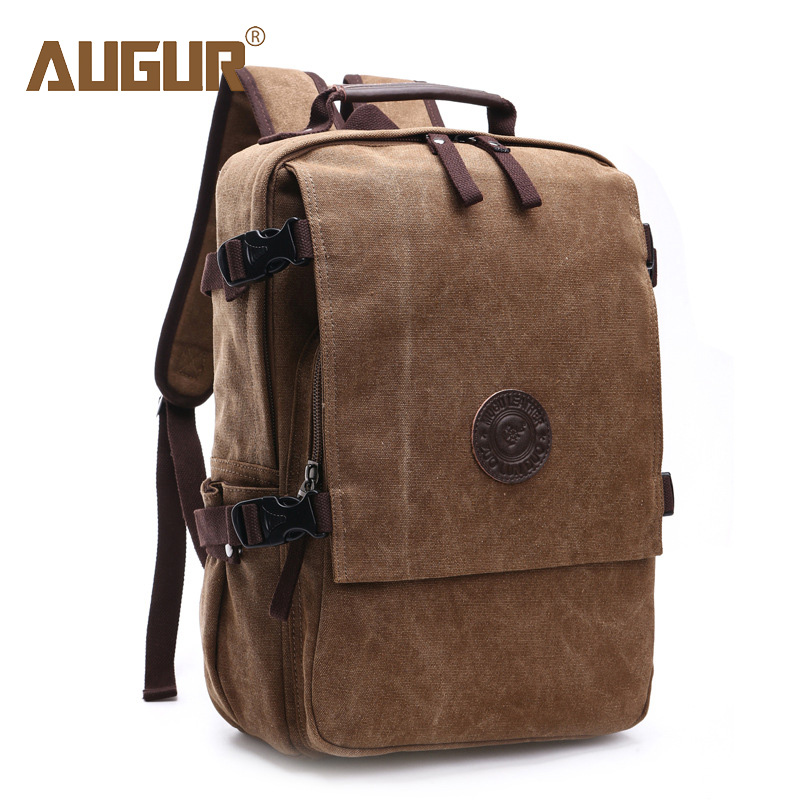 Augur Women Laptop Backpack Men Canvas Backpack Schoolbags School Casual Backpacks For Teenagers Travel Bagpack Sac A Dos Femme