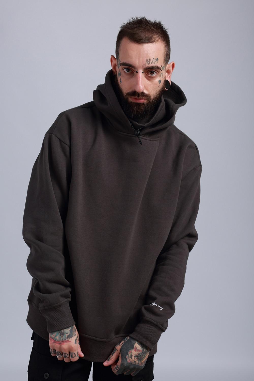 GOOD Quality 2017 New High Street Winter Hoodie Men Sweatshirts OVERSIZE Hip Hop Fashion Black /grey Thick Fleece Hoodies