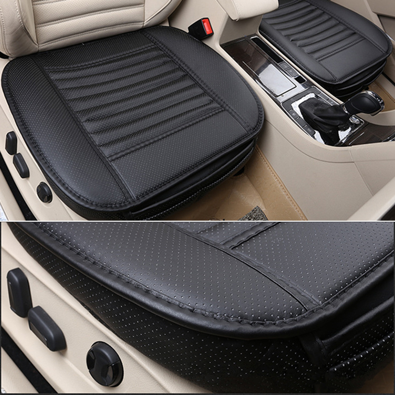 car seat cover protector black leather bamboo charcoal full surround car seat cover protect. Black Bedroom Furniture Sets. Home Design Ideas