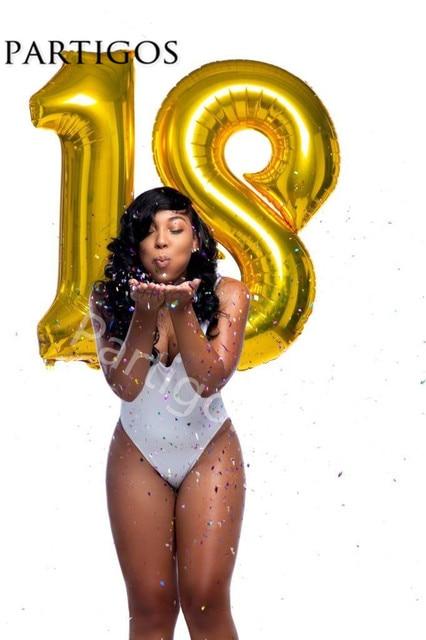2 pçs/set 18 anos Número de Dígitos Balões Foil Balões da Festa de Aniversário de Casamento Decoração de Balões de hélio Fontes Do Partido Do Evento 40 polegadas