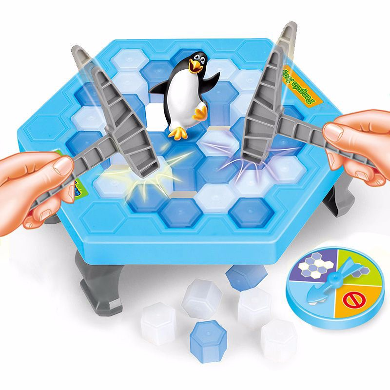 Children early education desktop game parent child interaction puzzle toys gifts Ice Breaking Save The Penguin