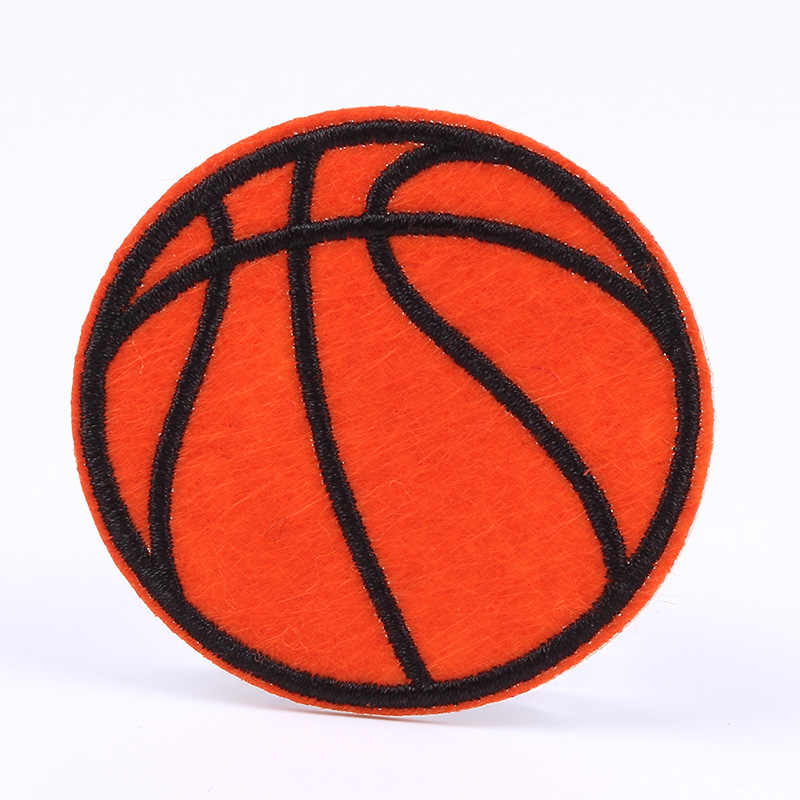 10 Buah/Banyak Bordir Basket Patch Besi Di Menjahit Di Olahraga Bola Appliques Diy Pakaian Stiker Besi Jeans Pakaian Lencana