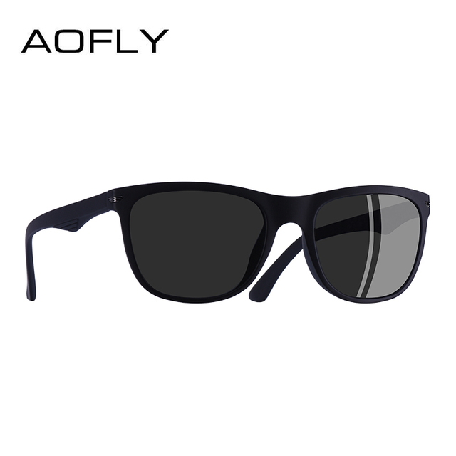 AOFLY BRAND DESGIAN Fashion Sunglasses Men Square TR90 Frame Polarized Sun Glasses Male Outdoor Sports Shades AF8081 2