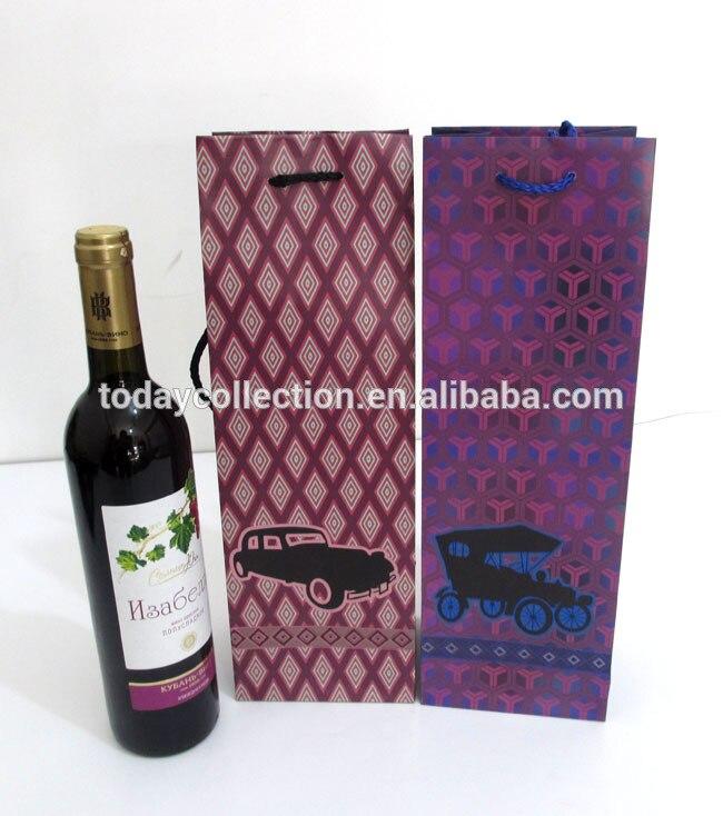 Red Wine Bottle Gift Paper Bag