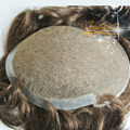 4 In Beautie Customized Full Swiss Lace with PU back Men's Toupee, Men Hair replacement with Super Natural Hairline