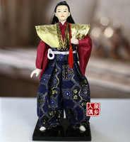 Statuette maison 30CM japonais samouraï poupée mâle ornements artisanat meubles décoratifs poupées cuisine japonaise enfants