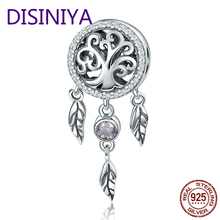 DISINIYA  Sterling silver 925 mousetrap holder, family tree, feminine beads, charming bracelets, necklaces, DIY jewelry SCC723
