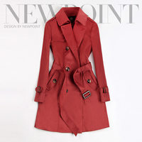 2019 Spring Autumn New Women Classic Double Breasted Mid long Trench Coat Female Slim Street Windbreaker Business Outerwear N794