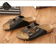 купить Man Slippers Summer Beach Cork Slippers Casual Flip Flops Shoes Summer Couples Slippers Flat Sandalias Zapatos Plus Size 35-46 по цене 1034.16 рублей