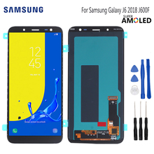 AMOLED Original LCD For Samsung Galaxy J6 2018 Screen Display Touch Screen Digitizer Assembly Replacement J600F J600 Free Tools 100% original for samsung galaxy s3 mini i8190 lcd display with touch screen assembly white replacement parts free tracking no