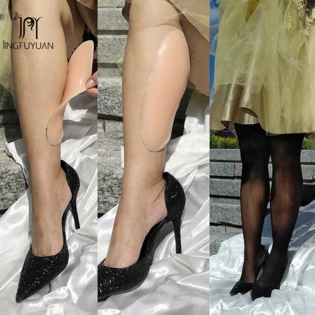 シリコーン脚オンレー細い脚パッド自己粘着修正 O 脚オンレーシリコーンふくらはぎパッド美脚下着 180 グラム/ペア