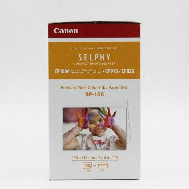 Canon RP-108 Sublimation thermique caméra papier Photo CP1300 CP1200 CP910 spécial caméra papier couleur ceinture instax film