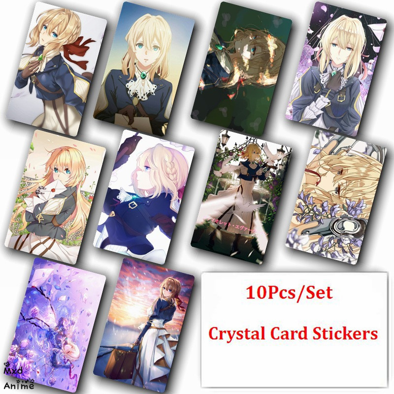 10Pcs Set K project Crystal Card Stickers Japanese Anime Poster Photo For Gift