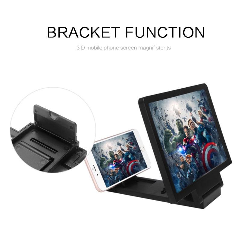 3D Phone Screen Magnifier Stereoscopic Amplifying Desktop Foldable Bracket Mobile Phone Holder Tablet Holder Dropshipping