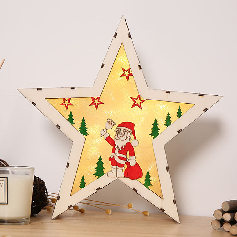 Star Christmas Decorations For Home Santa Claus Night Lights Christmas Tree Decor Desktop Accessories Holiday Party Decoration