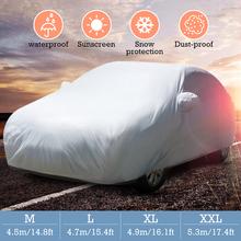 M L XL XXL Universal Full Car Cover Anti Rain Snow Ice Waterproof Dustproof UV Outdoor cheap Car Covers Polyester Taffeta Auto Body Covers Autoleader