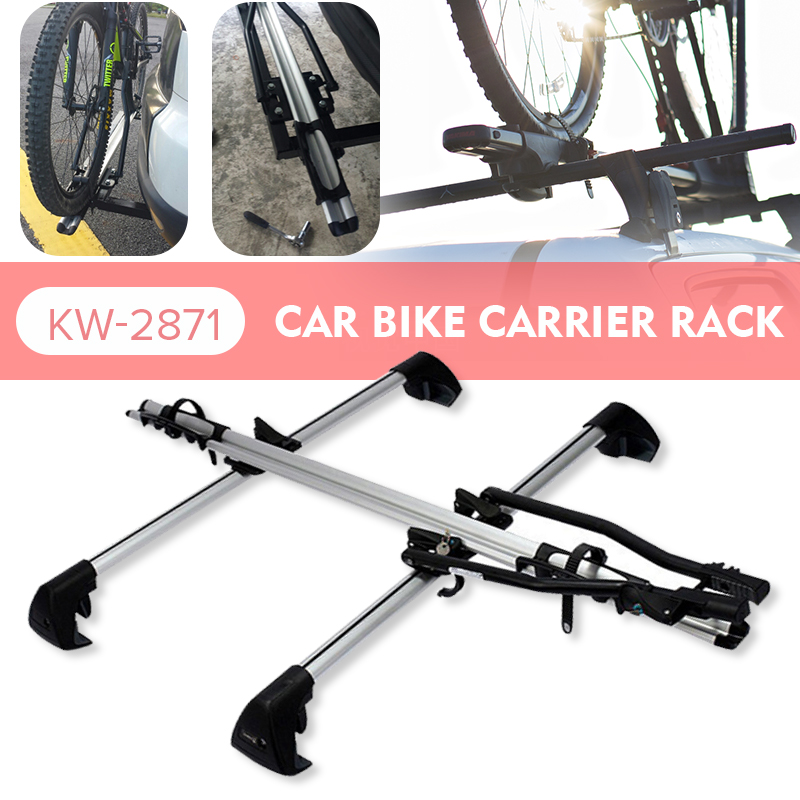 Car Roof Rack Cross Bar Anti-theft Lock for Bike Luggage Boat Bike Carrier Frame 145x22.5cm