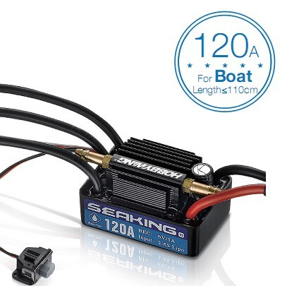 Hobbywing SeaKing V3 Waterproof 120A / 180A / 60A / 30A 2-6S Lipo Speed Controller 6V/5A BEC Brushless ESC for RC Racing Boat Lahore