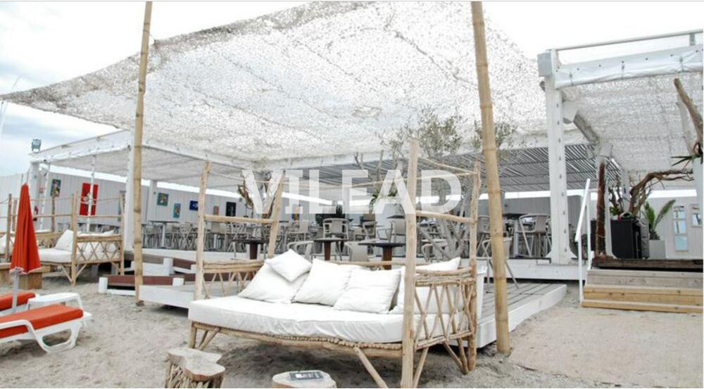 VILEAD 9M x 10M Gazebo Netting Pergolas Netting Sun Shelter Roof Decoration Snow White Digital Camouflage